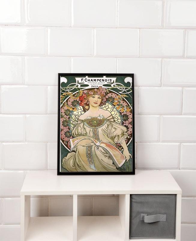 Alfons Mucha F. Champenois 1897 - plakat