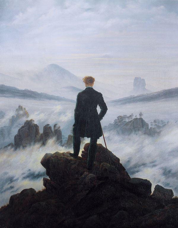 wedrowiec nad morzemm mgły plakat